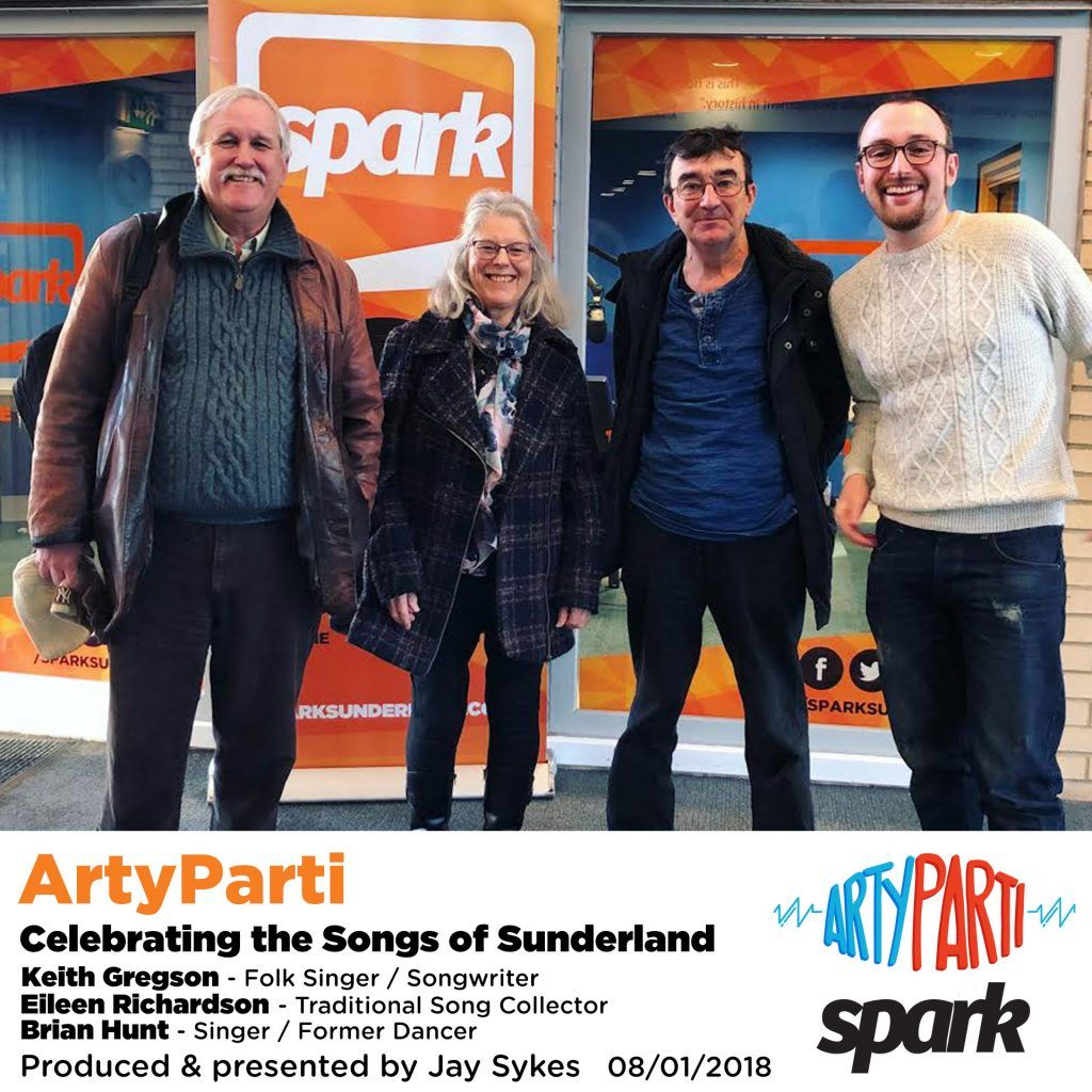 ArtyParti - 115 - Celebrating the Songs of Sunderland Keith Gregson Eileen Richardson Brian Hunt folk traditional music Sunderland South Shields Stumble Inn