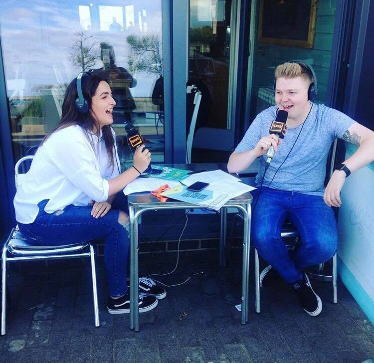 Ryan and Beth Drivetime Spark cafe Sunderland live OB