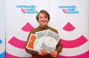 Programming Director Jordan Blyth accepting our awards