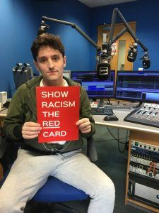 Daytime Presenter Tom Wearing Red