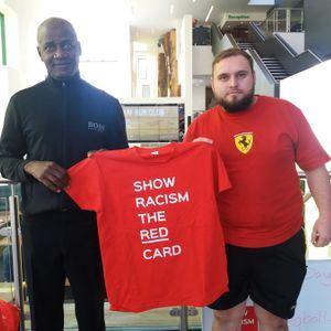 SAFC Legend Gary bennett and Team Sunderland's Dan Kendal Show their support